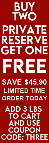 buy two get one free 1 pound private reserve 45.90 savings coupon code three
