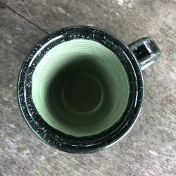 green mug from top